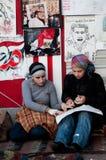 Giovani donne nella rivoluzione araba Immagini Stock Libere da Diritti