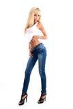 Giovani donne sexy che portano i jeans immagini stock libere da diritti