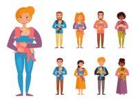 Giovani genitori Bambini illustrazione di stock