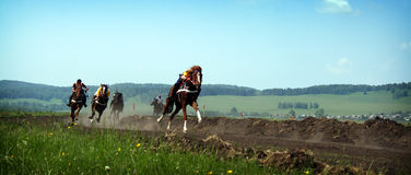 Giovani horsemans Fotografia Stock Libera da Diritti