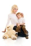 Giovani madre e figlio. Immagine Stock