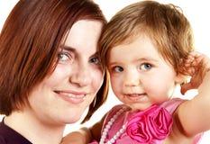Giovani madre e neonata immagini stock