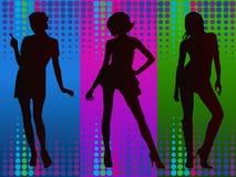 Giovani modelli femminili al partito fotografia stock