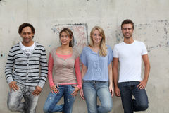 Giovani nella città Fotografia Stock