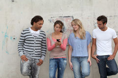 Giovani nella città Fotografia Stock Libera da Diritti