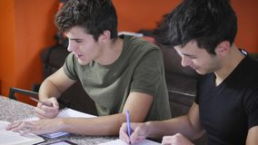Giovani occupati con gli studi Immagini Stock Libere da Diritti