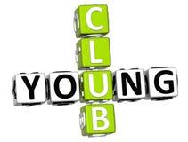 giovani parole incrociate del club 3D Fotografia Stock
