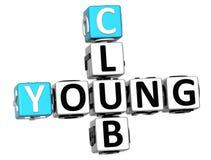 giovani parole incrociate del club 3D Fotografia Stock Libera da Diritti