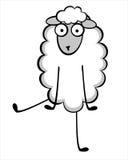 Giovani pecore divertenti Immagine Stock Libera da Diritti
