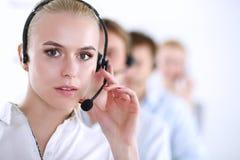 Giovani persone di affari e colleghi positivi attraenti in un ufficio della call center businesspeople Immagini Stock Libere da Diritti