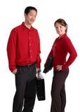 Giovani professionisti nel colore rosso Fotografia Stock