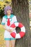 Giovani ragazze giapponesi di cosplay Fotografia Stock Libera da Diritti