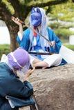 Giovani ragazze giapponesi di cosplay Fotografie Stock Libere da Diritti