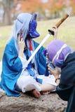 Giovani ragazze giapponesi di cosplay Fotografie Stock