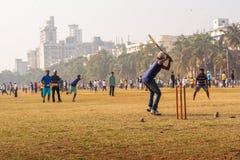 Giovani ragazzi che giocano cricket immagini stock libere da diritti