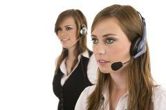 Giovani signore di affari che interagiscono Fotografie Stock