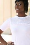 giovani splendidi femminili dell'afroamericano Fotografie Stock