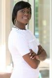 giovani splendidi femminili dell'afroamericano Immagini Stock