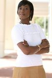 giovani splendidi femminili dell'afroamericano Fotografia Stock Libera da Diritti