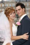 Giovani sposa e sposo Immagini Stock Libere da Diritti