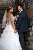 Giovani sposa e sposo Fotografie Stock Libere da Diritti