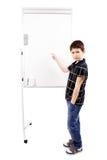 Giovani studente e lavagna del ragazzo Fotografie Stock
