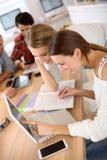 Giovani studenti che studiano insieme Fotografia Stock Libera da Diritti