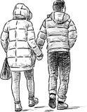 Giovani su una passeggiata Fotografia Stock
