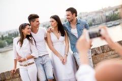 Giovani sul lungomare Fotografia Stock