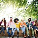 Giovani Team Together Cheerful Concept degli adolescenti fotografie stock libere da diritti