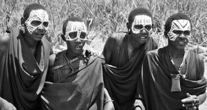 Giovani uomini masai Fotografia Stock