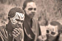 Giovani uomini masai Immagini Stock Libere da Diritti