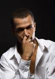Giovani uomini seri Fotografia Stock Libera da Diritti