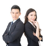 Giovani uomo d'affari e donna di affari sicuri immagini stock libere da diritti