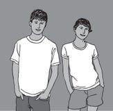 Giovani uomo e donna adulti Fotografia Stock
