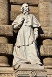 Giovanni Battista de Luca monument, great italian jurist and car Stock Photos