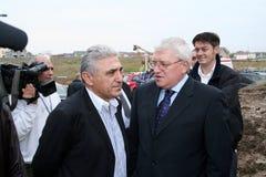 Giovanni Becali and Adalbert Kasai Stock Photo