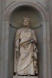 Giovanni Boccaccio Statua w Uffizi galerii, Florencja, Tuscany, Włochy Zdjęcie Stock