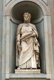 Giovanni Boccaccio statue in Florence Royalty Free Stock Photo