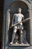 Giovanni Delle Bande Nere Statua w Uffizi galerii, Florencja, Tuscany, Włochy Zdjęcie Stock