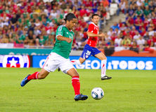 Giovanni Dos Santos of Mexico. BARCELONA - SEPTEMBER 4: Giovanni Dos Santos of Mexico in action during the match between Mexico and Chile, final score 1 - 0, on Royalty Free Stock Image
