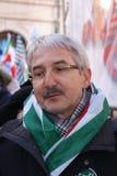 Giovanni Faverin, итальянский профсоюзный руководитель CISL FP Стоковое Изображение