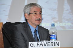 Giovanni Faverin, general secretary of CISL FP union Stock Images