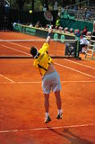 Giovanni Lapentti serving-Davis Cup playoffs Stock Photo