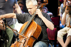 Giovanni Sollima. Is a true virtuoso of the cello,cellist and composer stock photos