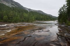 Giovdal river valley near Smelandgian Norway Royalty Free Stock Image