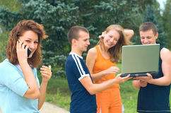Gioventù allegra Fotografia Stock