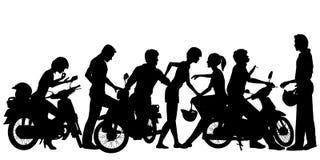Gioventù del motociclista Fotografia Stock