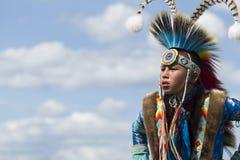 Gioventù del nativo americano Fotografia Stock Libera da Diritti