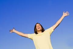 Gioventù sorridente felice Fotografie Stock
